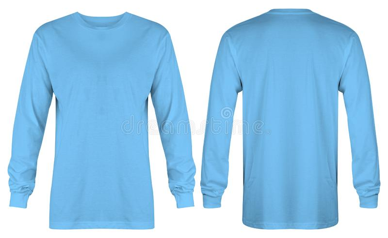 Blue Blank T Shirt Mockup Isolated White Stock Photos Download