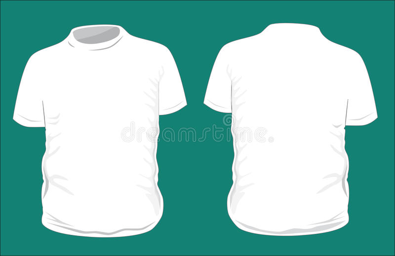 Blank t-shirt template. royalty free stock image