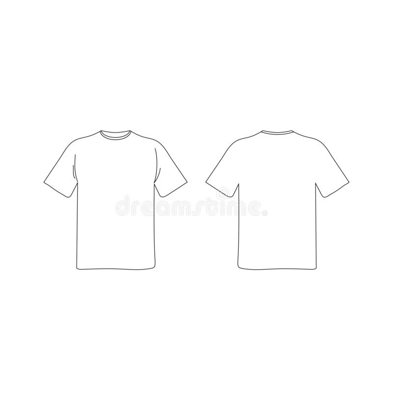 Blank T Shirt Template Front Back Stock Illustrations 7 703 Blank T Shirt Template Front Back Stock Illustrations Vectors Clipart Dreamstime