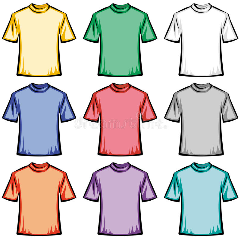 Blank T-shirts illustration royalty free illustration