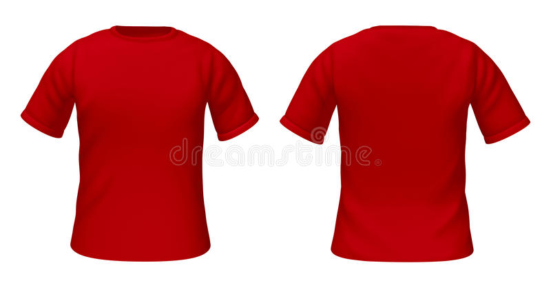 blank t shirts template with red color stock illustration illustration of blank flat 19768280. Black Bedroom Furniture Sets. Home Design Ideas