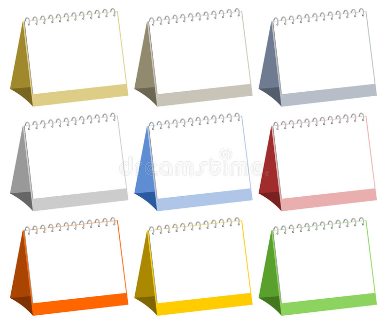 Blank table calendars vector illustration