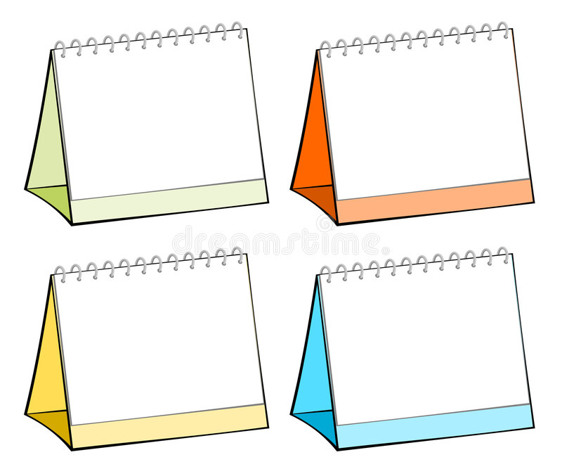 Download Blank table calendars stock vector. Image of colorful - 6298435
