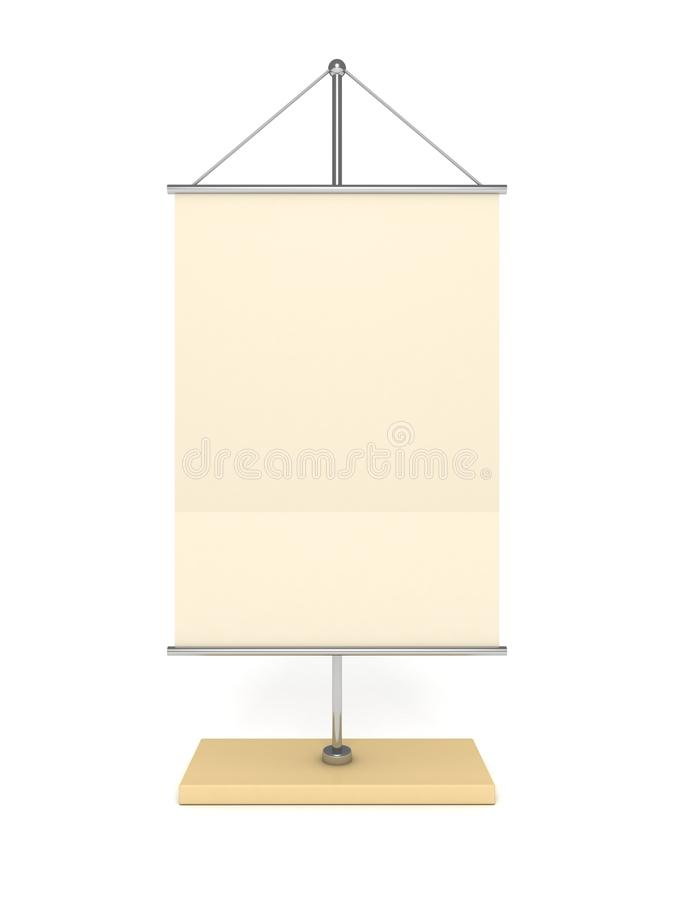 Blank Table Info Flag On White Background Royalty Free Stock Photography