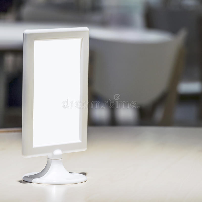 Free Blank Table Menu Stand On Table At Restaurant Inte Stock Photos - 42263433