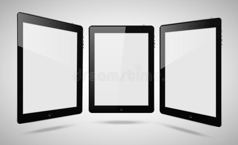 Blank tablet pc stock photography