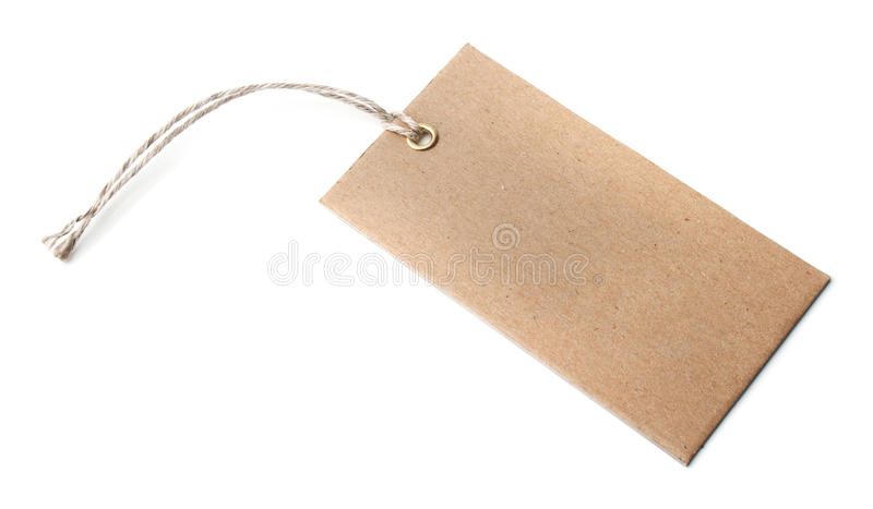 Download Blank tag stock photo. Image of string, attached, brownish - 26694136