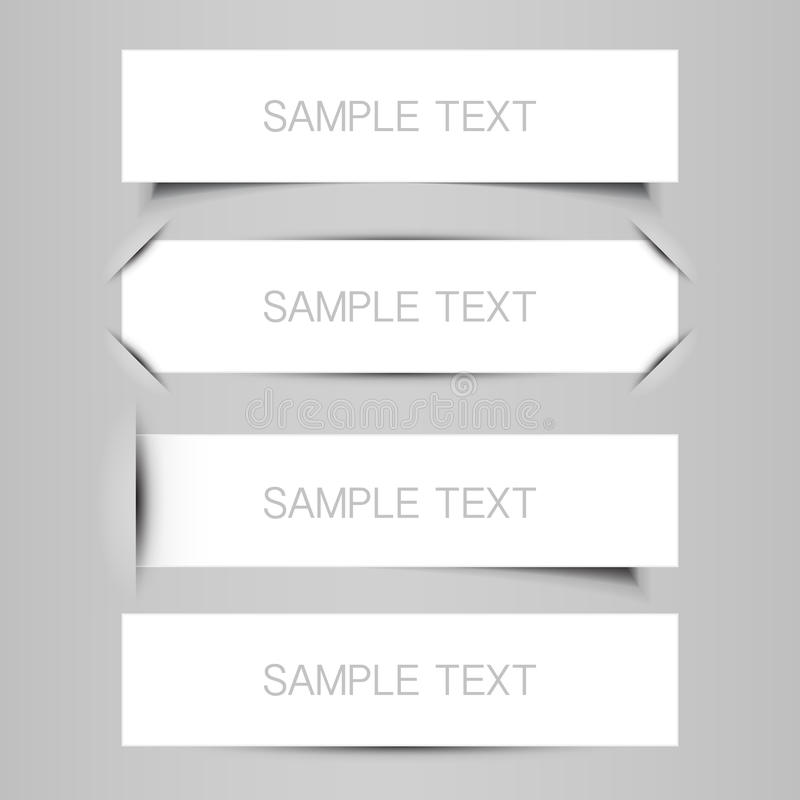 Blank Tag, Label, Banner Designs Stock Vector - Illustration of ...