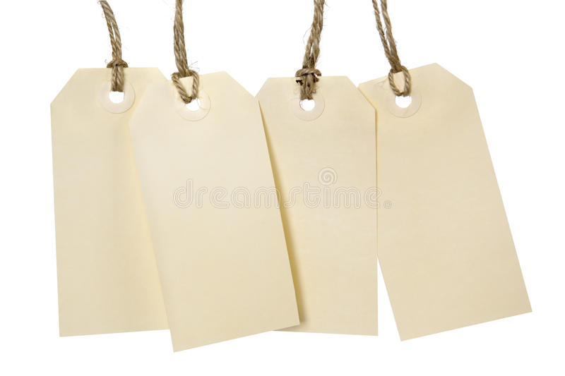 Blank Tags stock photography