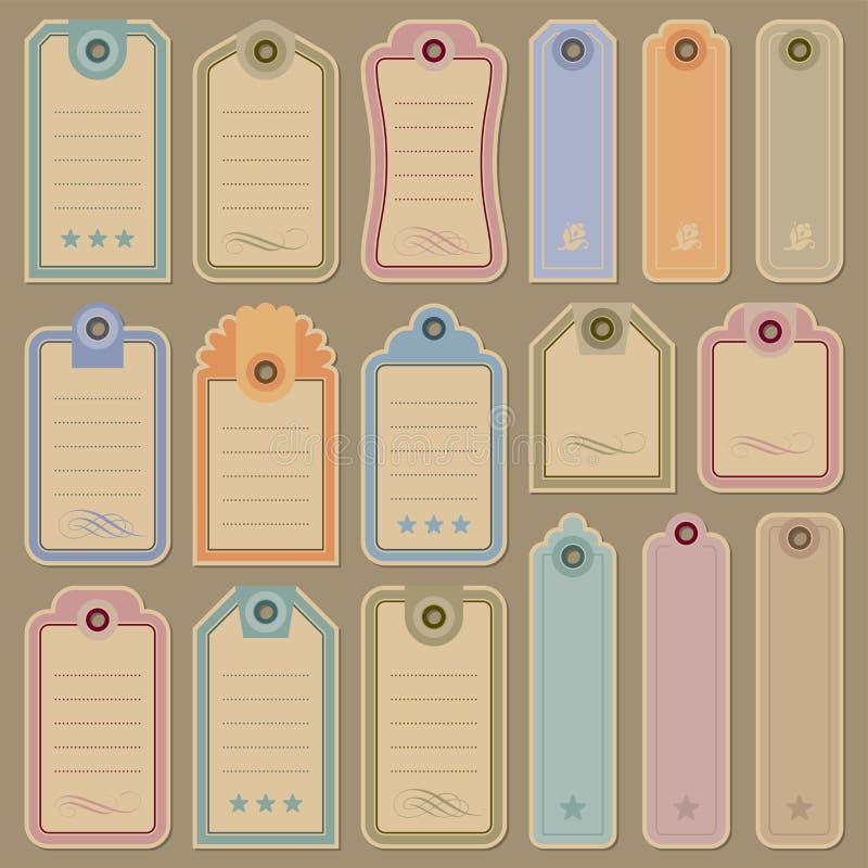 Blank tags set (vector) royalty free illustration