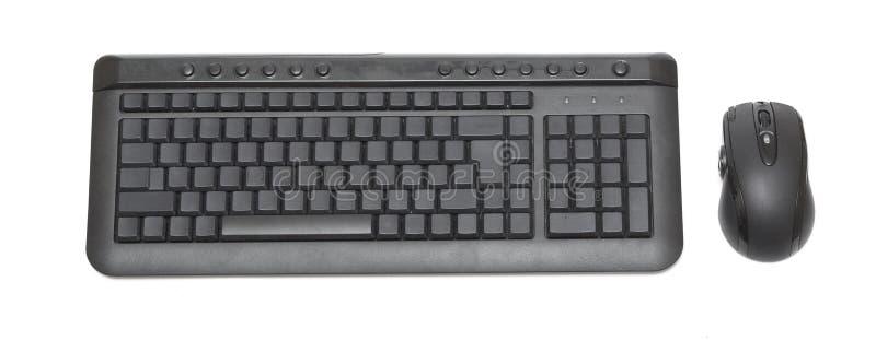 blank tangentbordmus arkivbild