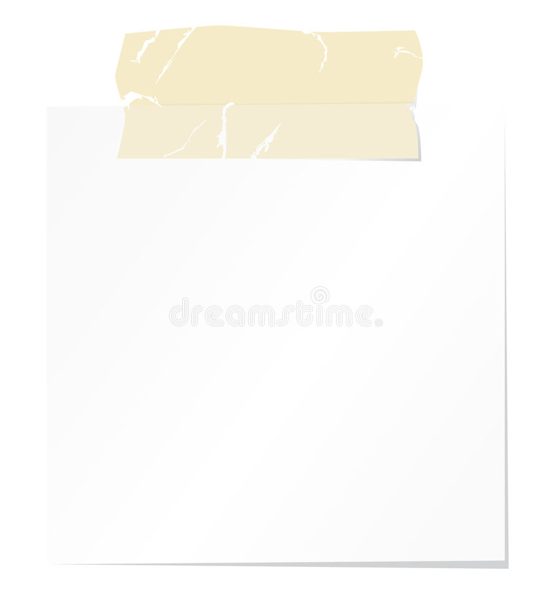 blank tejp för anmärkningspapper stock illustrationer