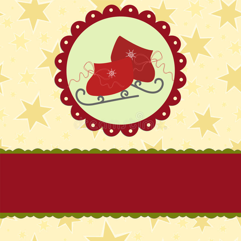 blank template for christmas greetings card stock vector