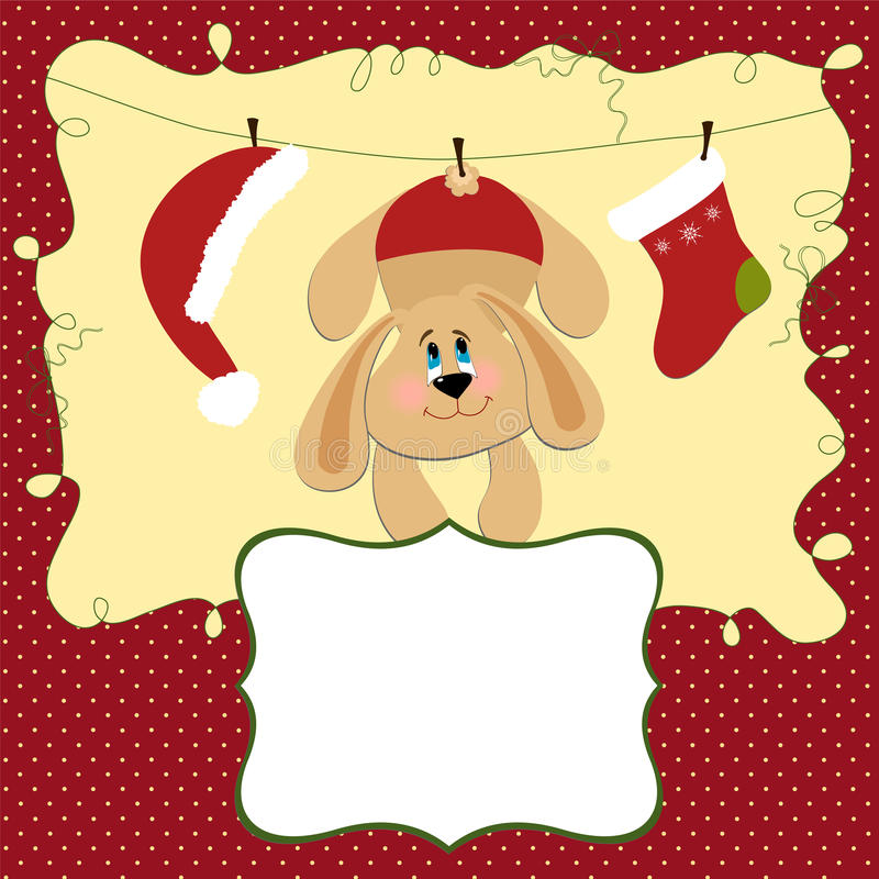 Blank template for Christmas greetings card royalty free illustration
