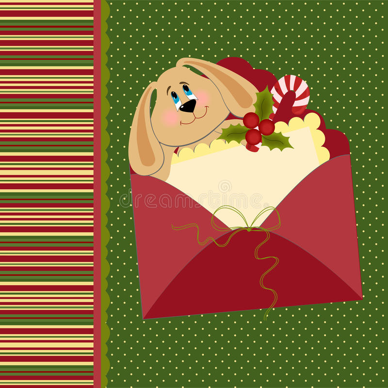 Blank template for Christmas greetings card vector illustration