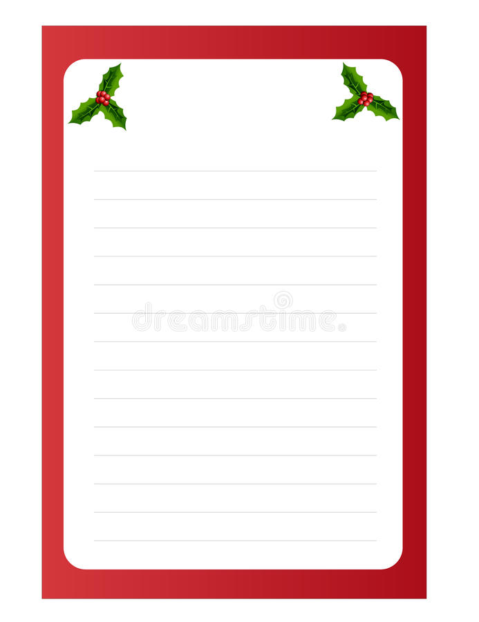 Download Blank Template For Christmas Greetings Card Stock Vector - Image: 21569143