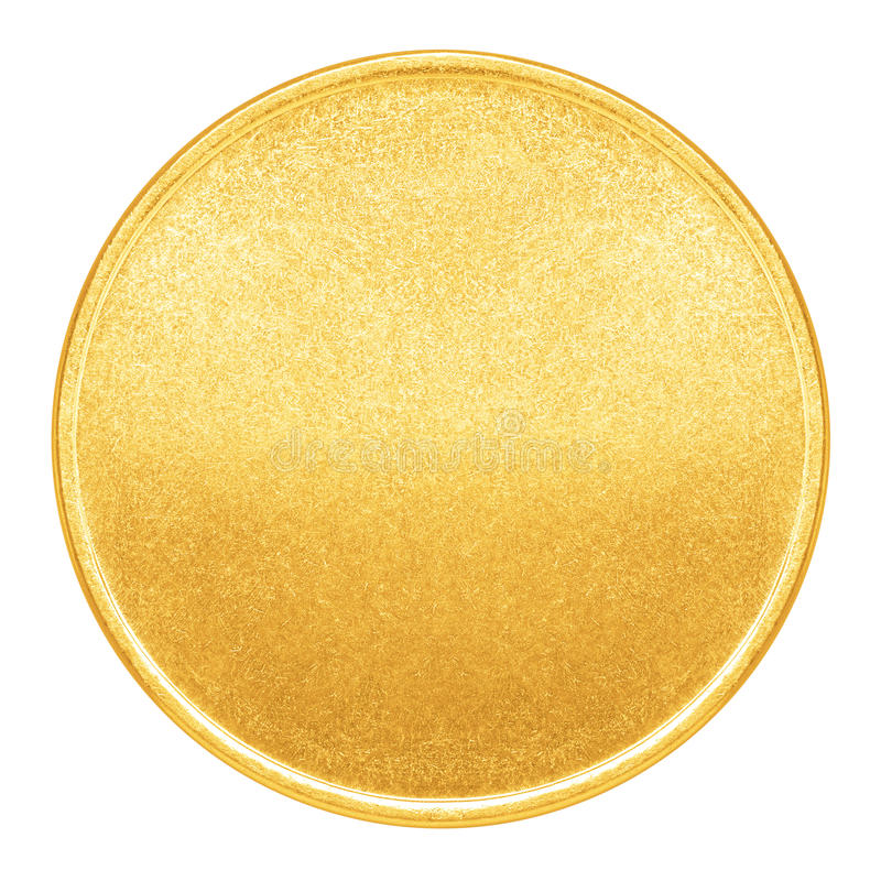 Free Blank Template For Gold Coin Or Medal Stock Image - 49139251