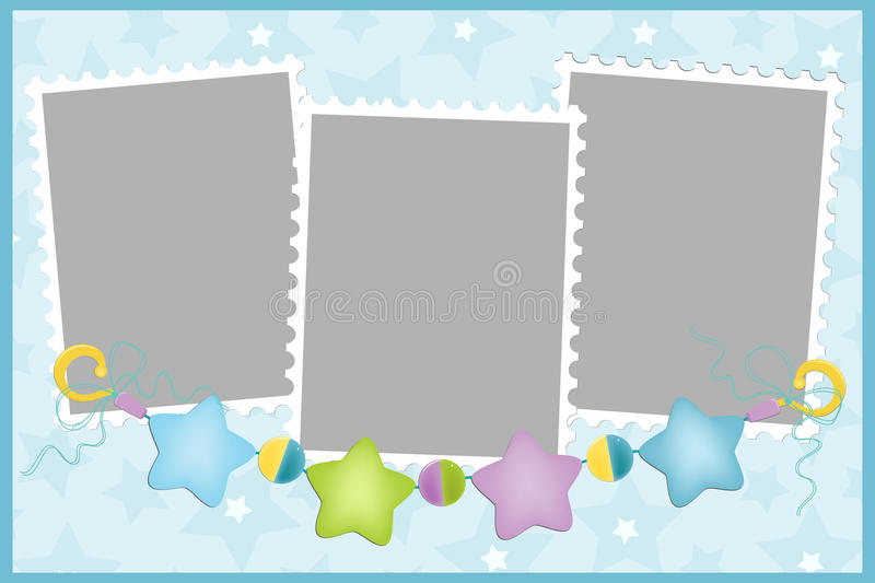 Blank template for greetings card royalty free illustration