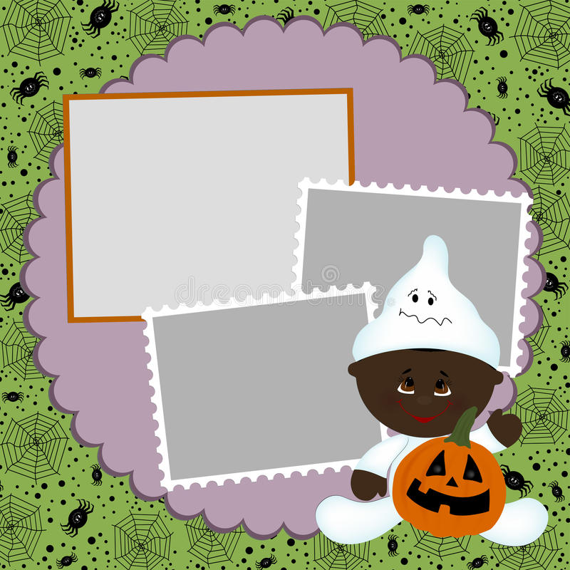 Download Blank Template For Halloween Photo Frame Stock Vector - Image: 16317311
