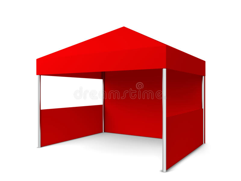 Blank tent stock illustration
