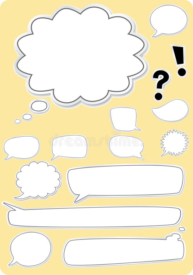 Blank Text Boxes stock illustration
