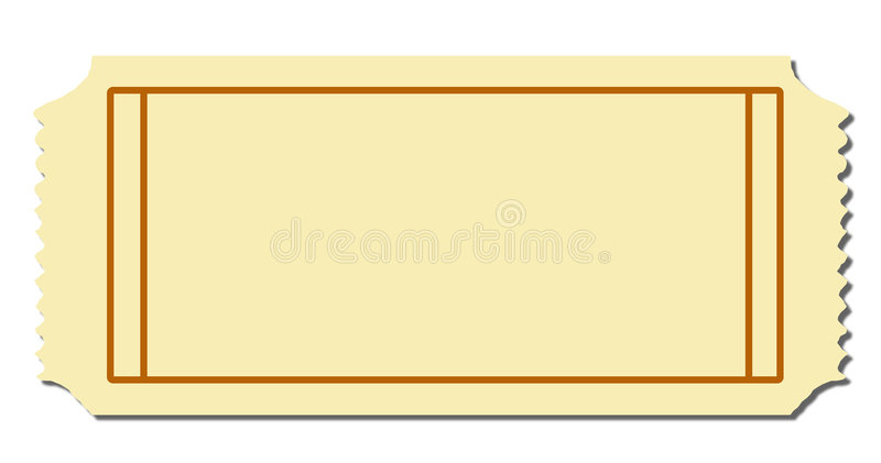 Download Blank Ticket Stock Vector. Illustration Of Blanc, Geometric    5309690  Blank Ticket