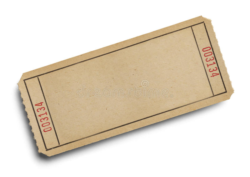 Blank Ticket stock photo