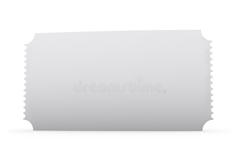 Blank Ticket Stock Image - Image: 35209101