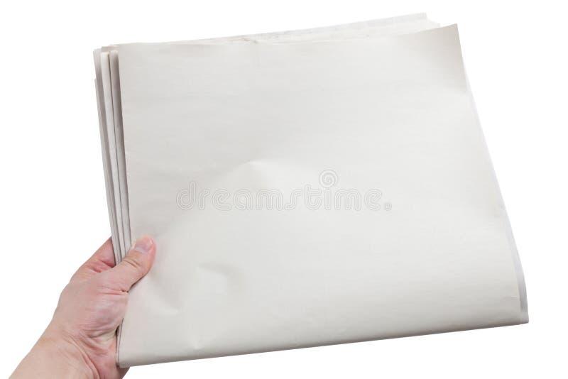 blank tidning arkivfoto