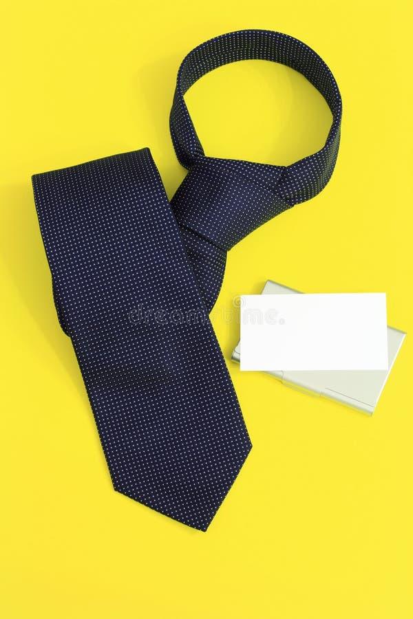 blank tie för affärskort arkivfoton