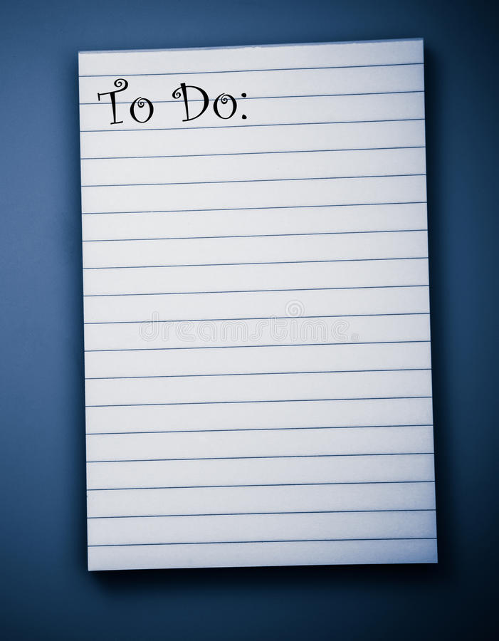 Free Blank To Do List Stock Photography - 26224362