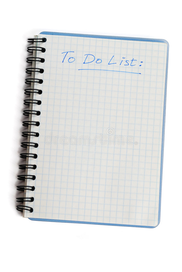 Download Blank to do list stock image. Image of paper, page, isolated - 3024649