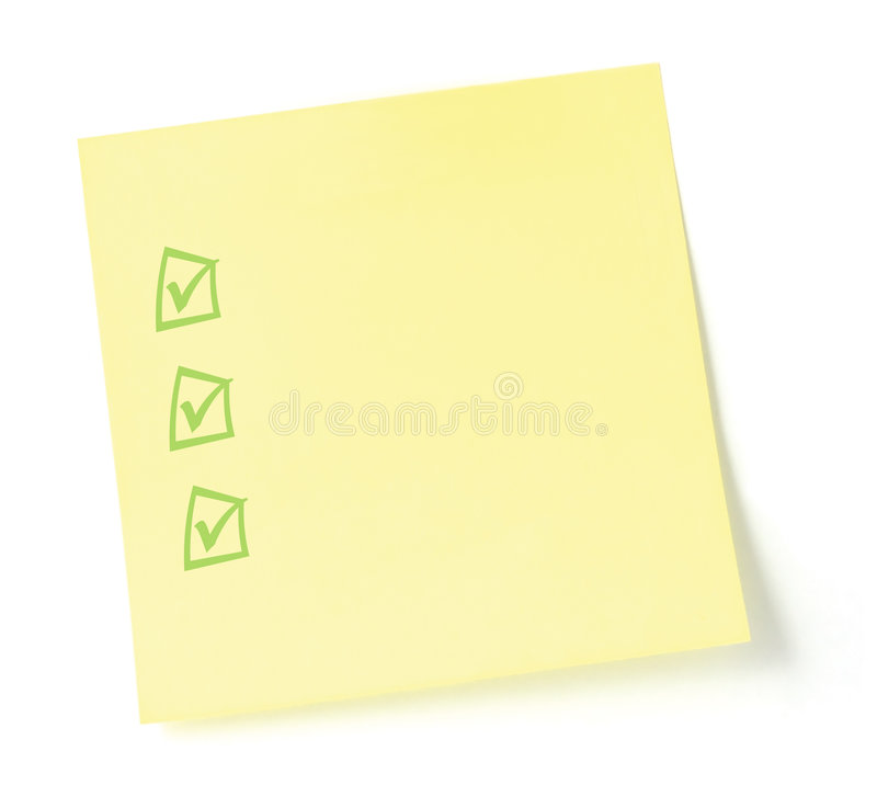 Download Blank To-Do List  With Checkboxes Stock Image - Image of isolated, listing: 4424025
