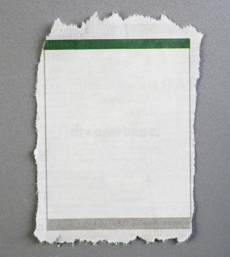 Blank torn newspaper ad royalty free stock images