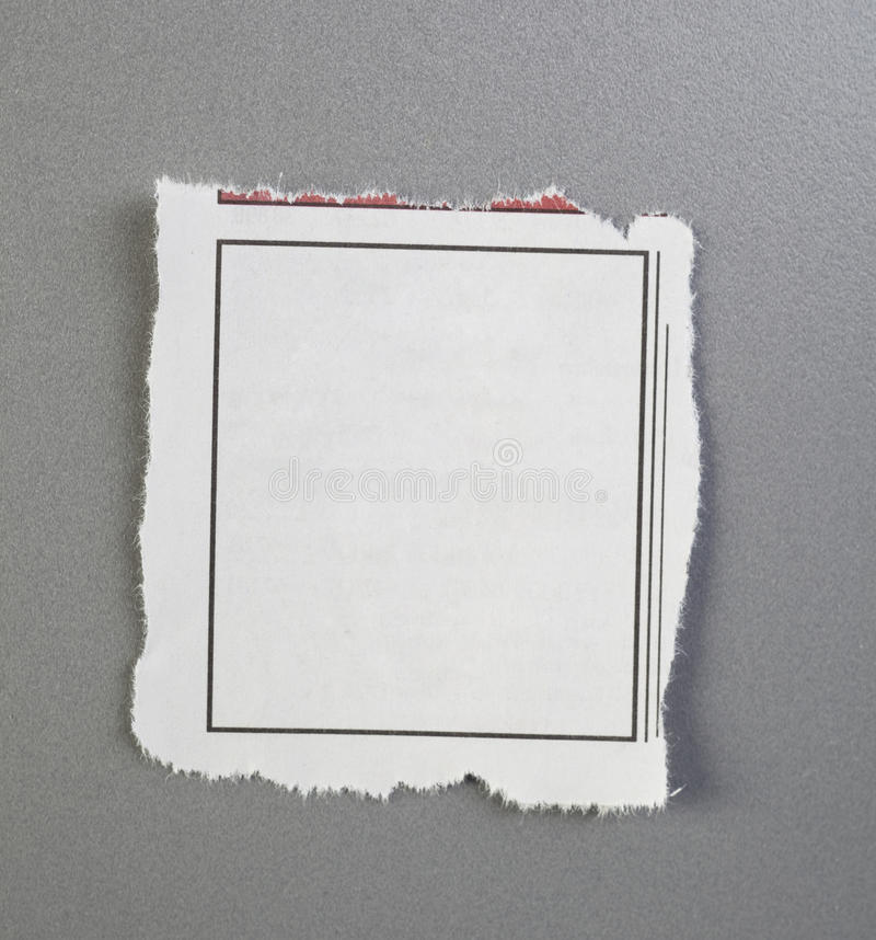 Blank torn newspaper ad royalty free stock photography