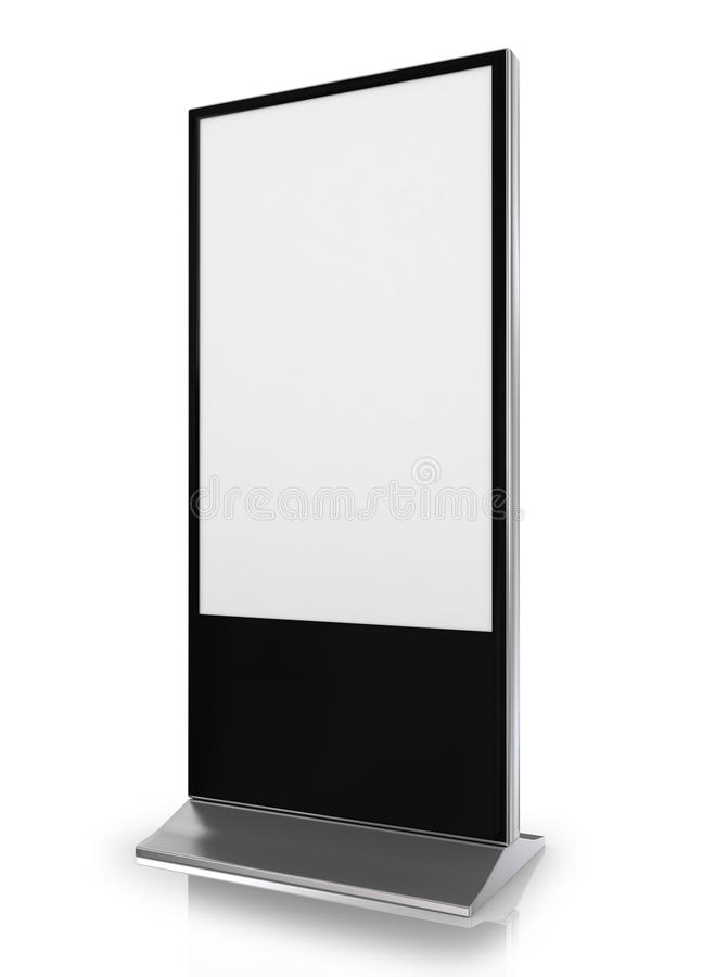 Blank trade show booth stock illustration