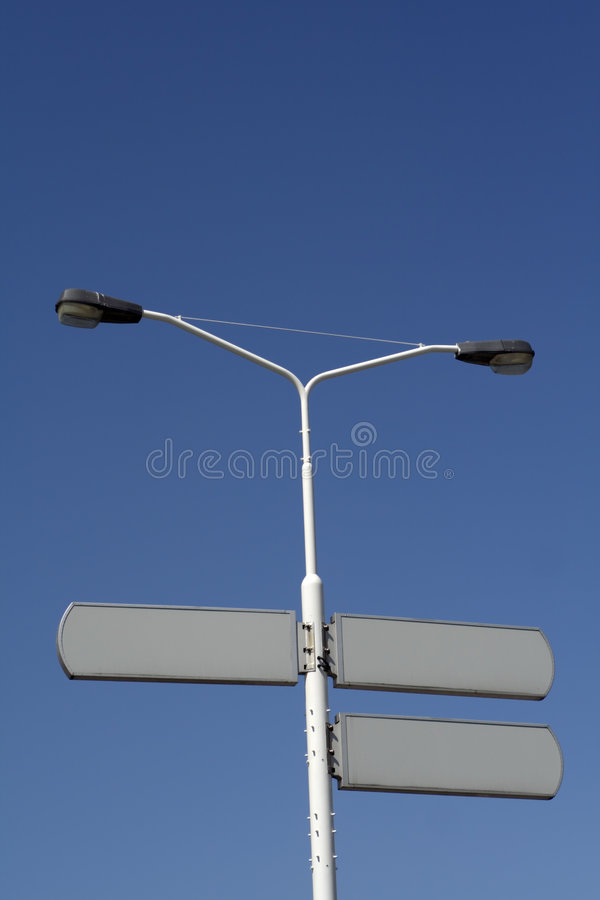 Blank traffic signs stock image
