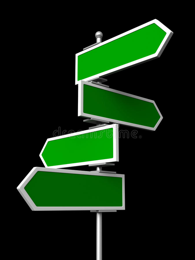 Blank traffic signs stock illustration