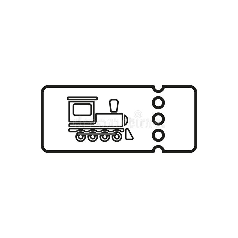 Download The Blank Train Ticket Icon Travel Symbol Flat Stock Vector