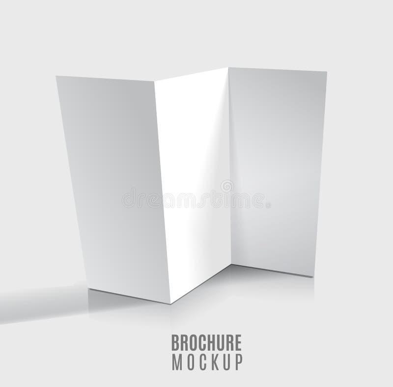 Blank tri-fold brochure royalty free illustration
