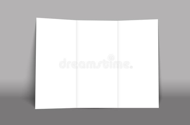 download blank tri fold brochure mockup cover template isolated stock vector illustration of booklet