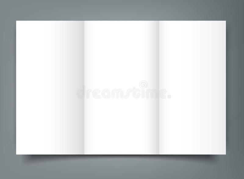 download blank tri fold brochure mockup cover template isolated stock vector illustration of folder
