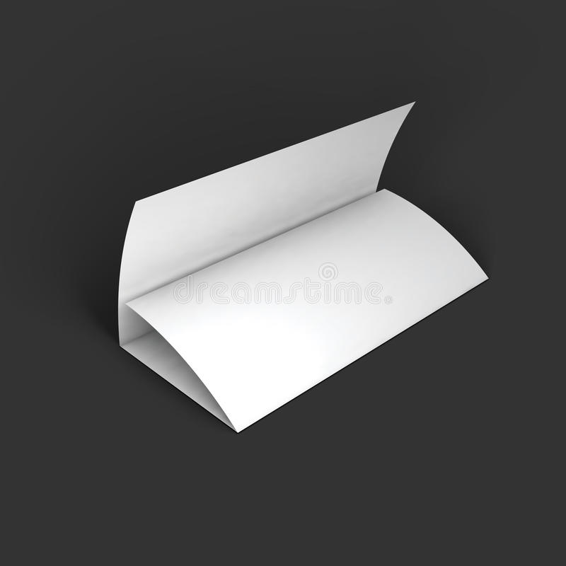 Blank Trifold Paper Brochure Mockup Template Stock Vector - Brochure mockup template