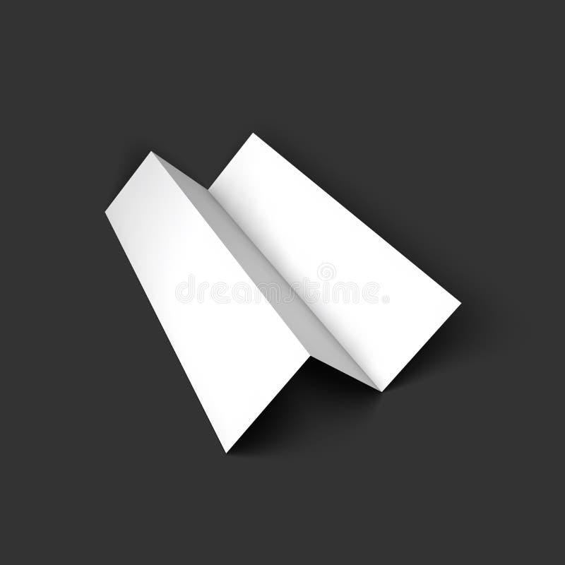 Blank trifold paper brochure mockup template. Vector Illustration EPS10 vector illustration