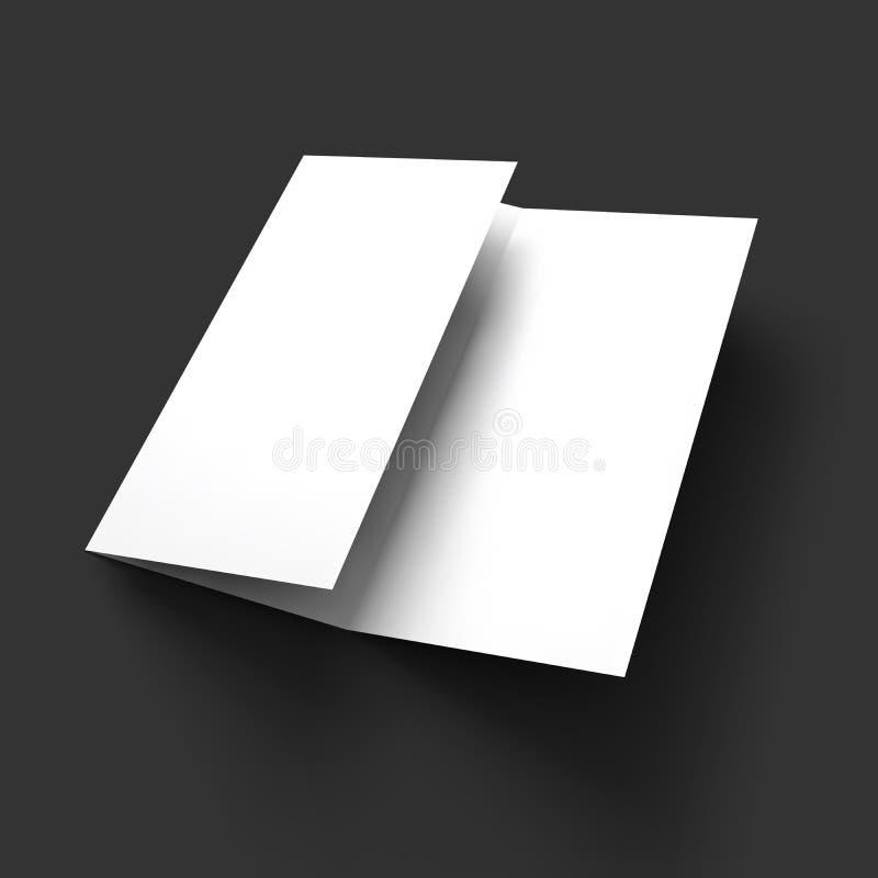 Blank trifold paper brochure mockup. Vector Illustration EPS10 royalty free illustration