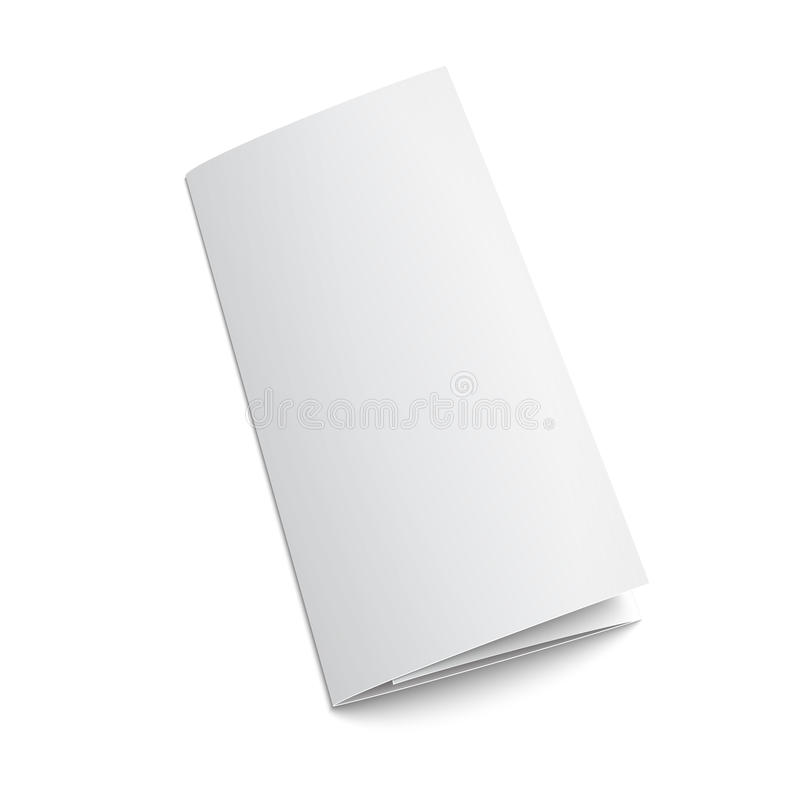 Blank trifold paper brochure. royalty free illustration
