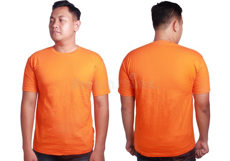 Orange shirt mockup template stock image image of for T shirt mockup front and back