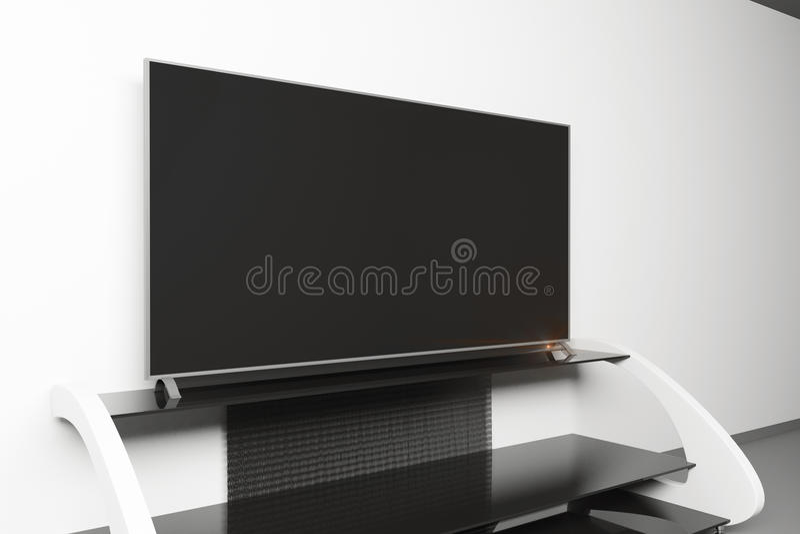 Blank TV monitor side royalty free illustration