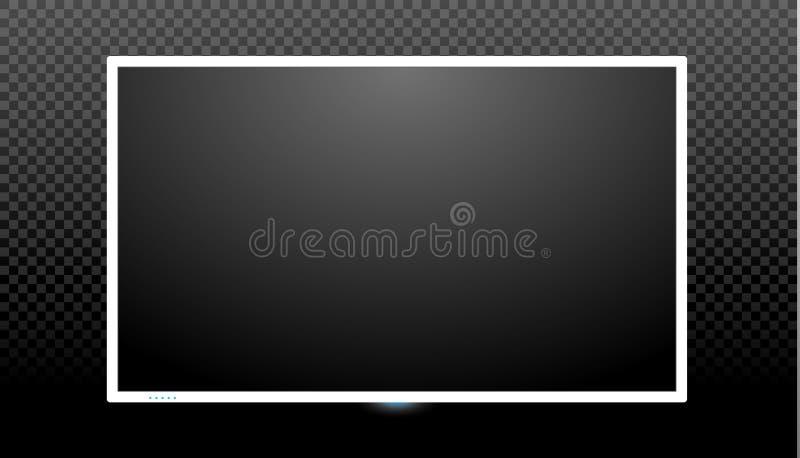Blank tv screen vector design. Digital wide television concept. Vector flat led or lcd screen mockup vector illustration