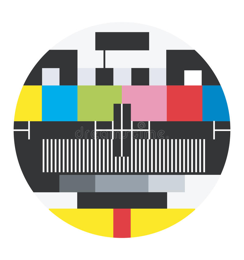 Blank TV signal. Isolated TV channel with no program signal royalty free illustration